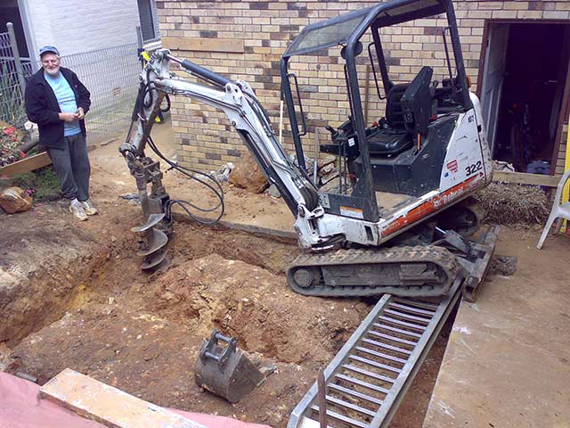 Augering Pier Holes Welcome To Jasons Bobcat Hire