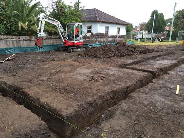 Excavation Footings Illawarra
