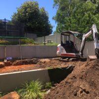 Excavator landscaping Jasons Bobcats